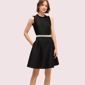 Kate Spade New York pearl crystal mikado dress